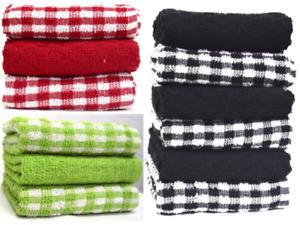 20x Wonderdry Tea Towels Quick Dry Pure Cotton Kitchen Cloth Bar Hotel Dishcloth