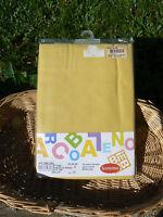 NUOVO Somma Bimbi lenzuolo sopra per lettino in cotone giallo