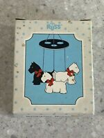 Russ Scotties Ceramic Windchime Menagerie Small Hanging Style No. 1906 New