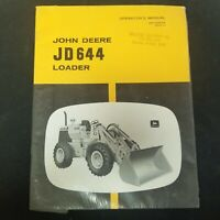 John Deere JD644 Loader Operator's Manual OM-T28279 Issue L8 NEW