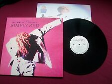 SIMPLY RED - A NEW FLAME - 1989 GERMAN VINYL LP WITH INNER SLEEVE  A-3/B-2 'NEW'