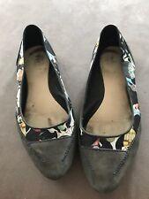 Camper Blue Suede Ballerina Shoes Size 6