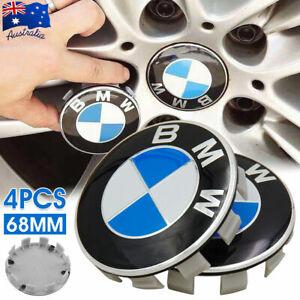 4X Hub Caps Wheel Centre Caps Car Rim Cap Badge Emblem 68MM Blue/White Fit BMW