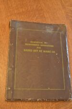 OLD WWII ? military Handbook of Maintenance Instructions Radio Set RT 18/ARC-1A