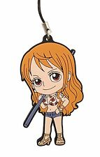 One Piece PVC Strap Keychain Charm New World Dressrose ~ Nami @OP00001