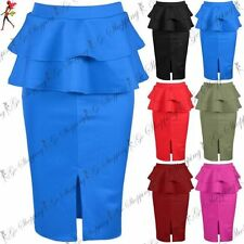 Polyester Peplum Skirts for Women