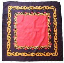 Chic Fashion JEWELRY Chain GOLD Black CHERRY Red Silk Hand Rolled Silk Scarf