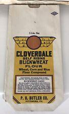 Cloverdale Buckwheat Flour Vintage Paper Ephemera Graphics Circa 1930's Baking