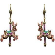 Sweet Romance Rabbit Carousel Merry-Go-Round Animal Earrings ~Made in USA~