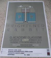 Frightened Rabbit - nov 2013 live music show memorabilia concert gig tour poster