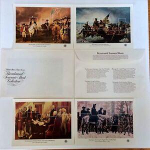 US #1686-1689 AMERICAN BICENTENNIAL Full 4 Souvenir Sheets CV: $17