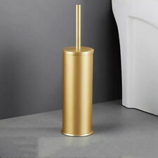 Gold Toilet Brush Holder Set Aluminum Bathroom Clearing Tool Lavatory Floor Type