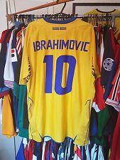Sweden Football Shirt 2008 Home Large ~ Ibrahimovic 10