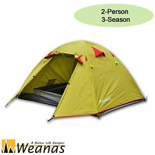 Weanas 2 Person 3 Season Waterproof Double Layer Hiking Shelter Camping Tent