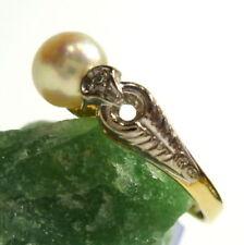 Gute echten Diamanten Ringe mit Perle