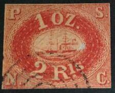 Peru 1857 1 oz  red boat Stamp used