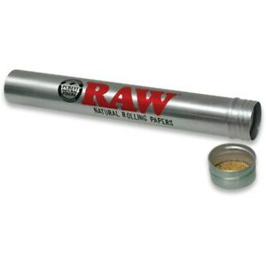 RAW Aluminium King Size Cone Holder Tube Pre Rolled Storage Stash Smell Proof