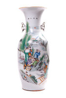 Antique Vintage Original 19th/20th Chinese Large porcelain vase FAMILLE ROSE
