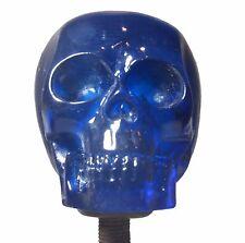 New! Blue Skeleton Skull Shift Knob Sold Resin Rat Rod Gear Lever Hot