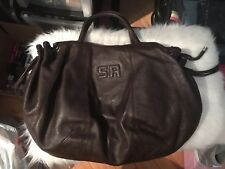 AUTHENTIC BROWN SONIA RYKIEL LEATHER WOMENS BAG