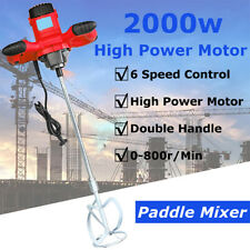 220V 2000W Industrial Electric Mortar Mixer Stirrer 6 Speed Paint Cement Grout