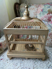 Wood Hanging Or Standing Bird Cage