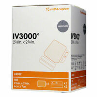 "Smith & Nephew IV3000 1-HAND Transparent Dressings 2-3/8"" x 2-3/4"" 100 Dressings"