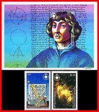 ANTIGUA 1993 COPERNICUS / SET + s/s SPACE/ASTRONOMY + BLOCK MNH **