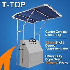 Centre Console Boat T-Top | Blue Canopy | Aluminium Framework | 1.4m Width