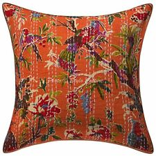 Kantha Printed Cushion Cover Pillow Case Vintage Bohemian Dorm Home Decorative