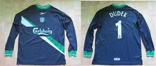 Jerzy Dudek #1 LIVERPOOL Goalkeeper shirt jersey REEBOK 1999-2000 adult SIZE S