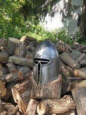 SCA Barbute 18g Hand made Cross-motif helm helmet medieval armour t2