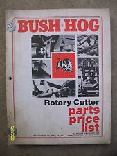 Original Vintage HTF Bush Hog Rotary Cutter Parts Price List Book Lots of Pages
