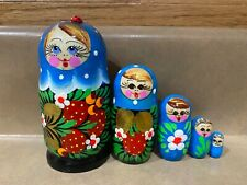 Russian Nesting Dolls Beautiful Girls! 5 pcs! Nice Gift