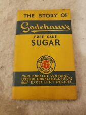 The Story Of Godchauxs Pure Cane Sugar 1935 Cook Book....