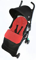 Footmuff / Cosy Toes Compatible with Joie Nitro Stroller LX Pushchair Fire Red