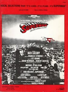 SUPERMAN 1966 MUSICAL COMEDY SONG BOOK-LEE ADAMS & CHARLES STROUSE-SHEET MUSIC