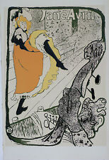 Toulouse Lautrec Lithographie ancienne Jeanne Avril