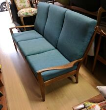 Retro T H Brown  3 Seater Couch Recovered in Warwick FABRIC