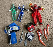 Power Rangers Furia paquete Jungle/SPD/2 X Muñeca. Electronic Efectos de sonido.