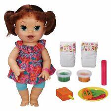 "Baby Alive Super Snacks Snackin Sara 15"" Doll Talks, Eats, Drinks, Poops New"