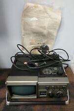 Vintage Philco Black And Whte TV FM/AM Radio Model B225QSL Portable W Box A1-A1