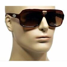 NWT Men Retro Sunglasses Dexter Vintage Large Frame Smoke Lens