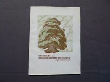 Buch, Naturschutz und Landschaftsgestaltung im Bezirk Magdeburg, DDR 1954