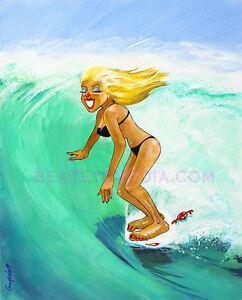 CAMPBELL-PRINT-SURF,COMIC ART,WEIRD OHS,SURFING,CARTOON,ROXY,PIN UPS,MODEL KITS