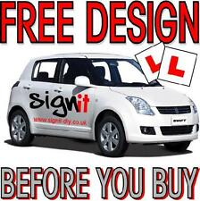 More details for driving school car lettering vehicle signs decals vinyl. free design!