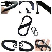 Black Outdoor Sports Camping Hiking Carabiner Clip Hook Key Chain