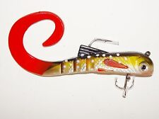 Brand new this season, 3 x 6inch, 48grm curl tail Jack Pike bulldog lures