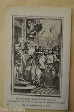 """CPA """" Illustrations de Charles EISEN - Les Contes de LA FONTAINE"""