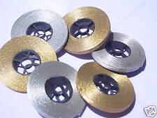 6 Gold/Silver Metalic Ribbon 150 Yards